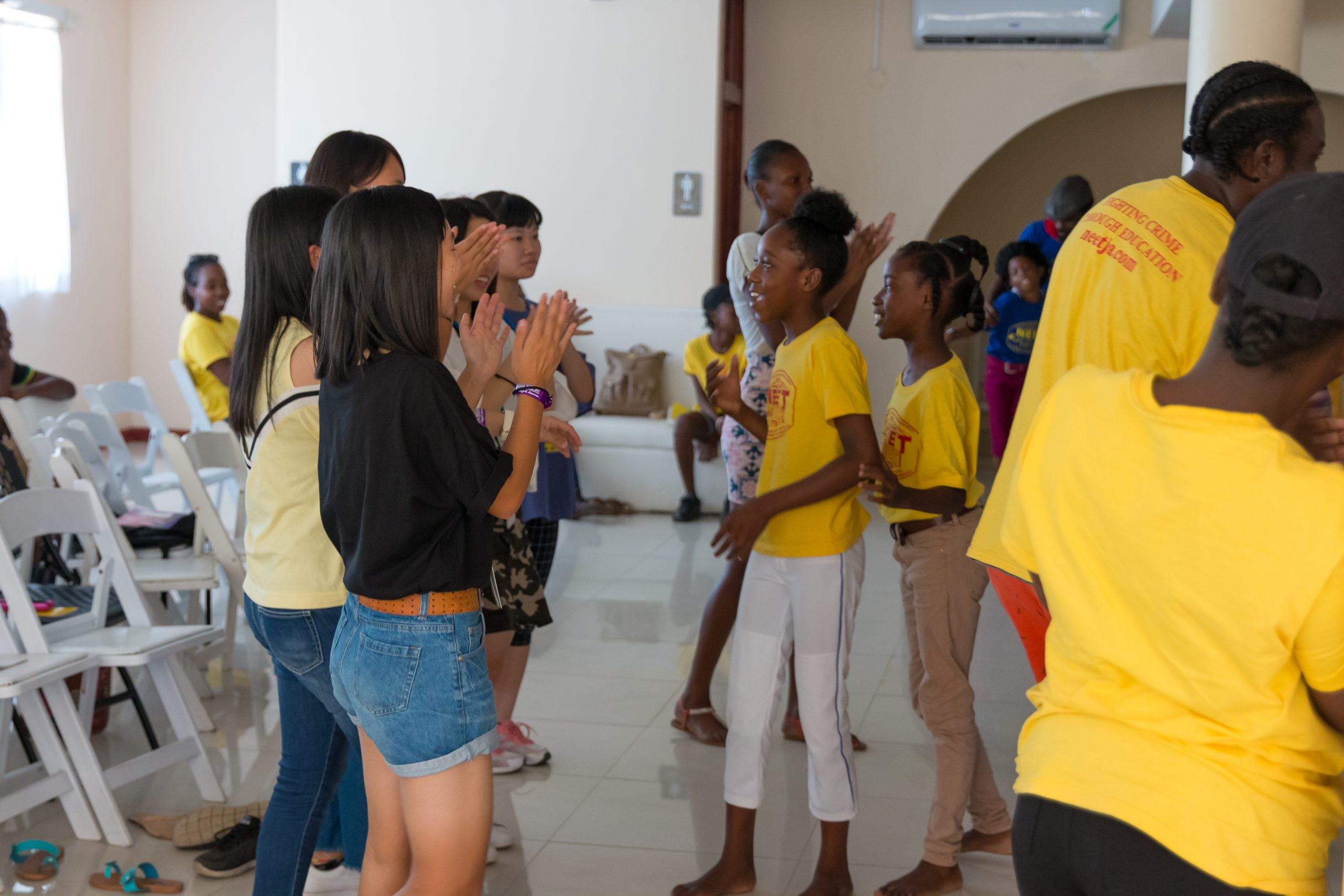 Japanese and Jamaican students