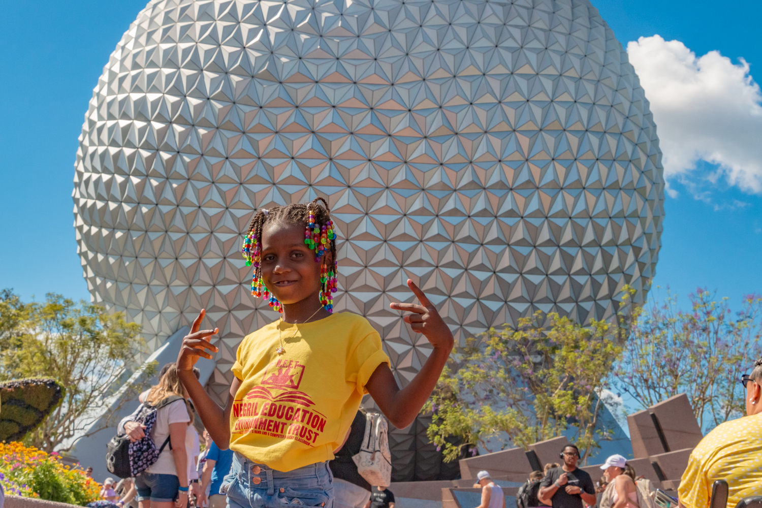 Student poses at Disney World