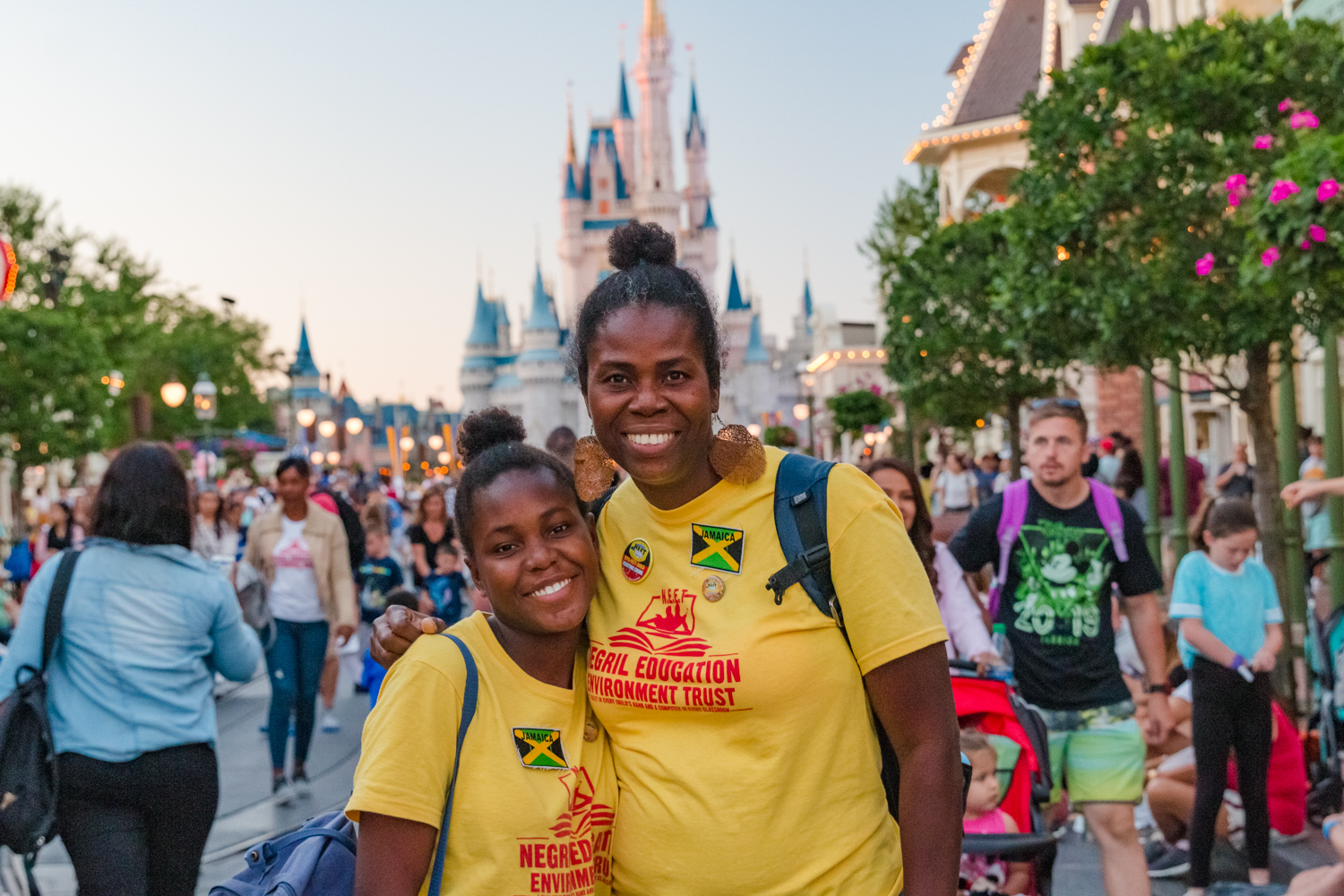 Mother and daughter at Magic Kingdom