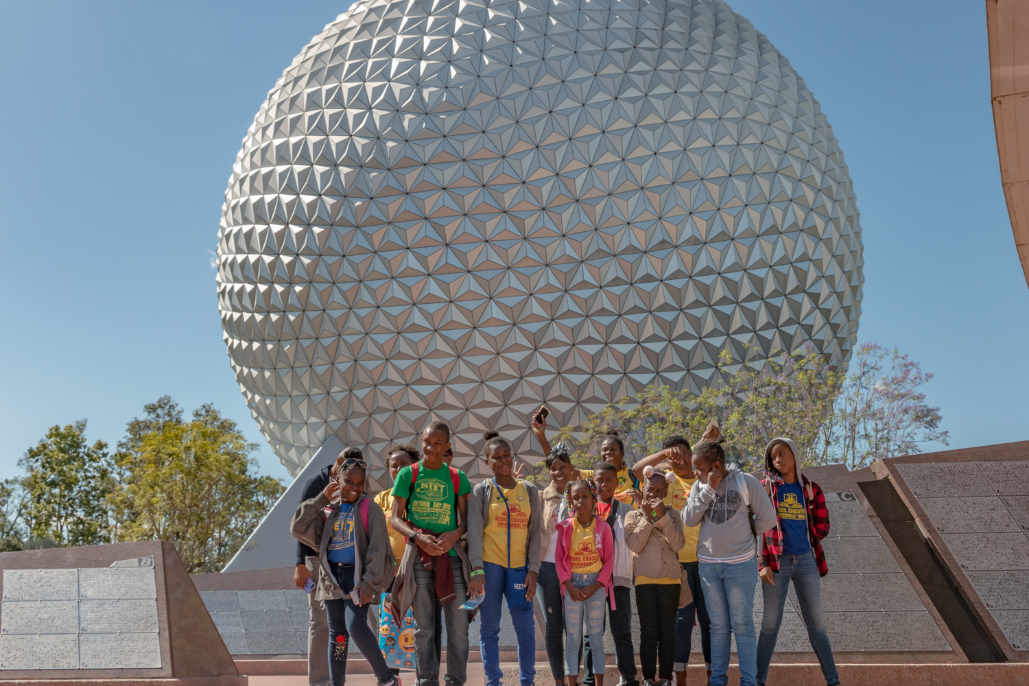 Group picture at Disney